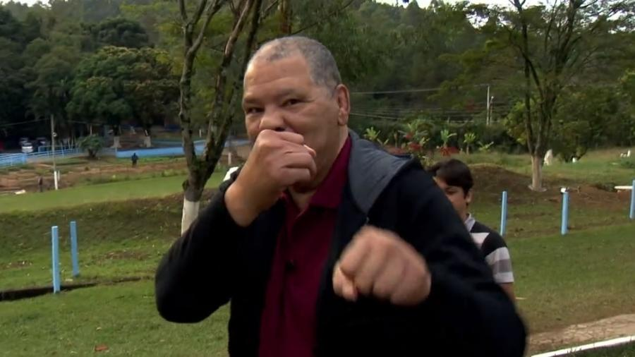 Maguila, ex-lutador de boxe, faz tratamento de encefalopatia traumática crônica - Reprodução/TV Globo