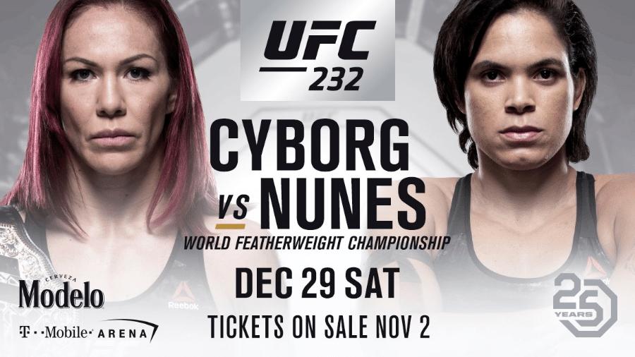 UFC anuncia Amanda Nunes x Cyborg em evento em 29 de dezembro - Divulgação/UFC