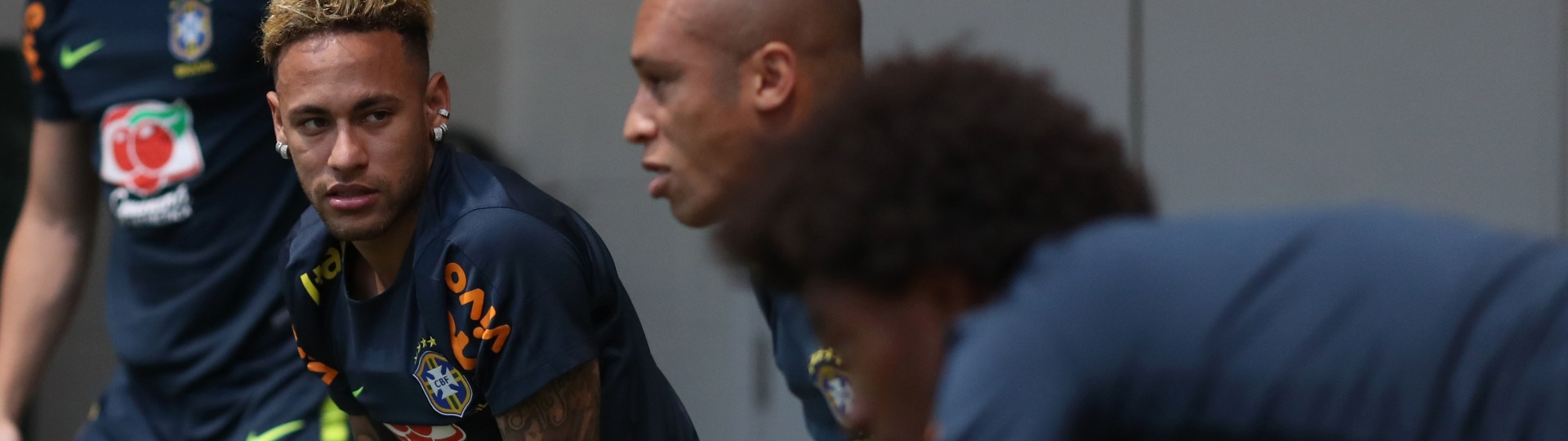 Neymar Miranda seleção brasileira treino