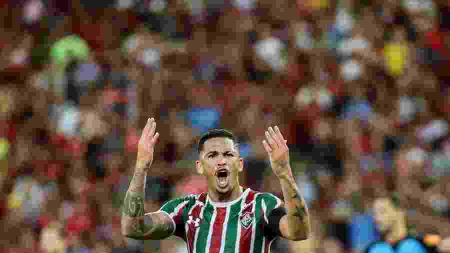 Atacante Luciano durante partida do Fluminense - Lucas Merçon/Fluminense