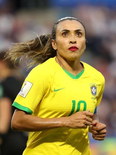 Marta durante o jogo França x Brasil, pelas oitavas de final da Copa do Mundo feminina - Lucy Nicholson/Reuters