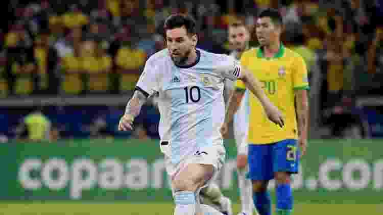 Lionel Messi no jogo Brasil x Argentina pela Copa América -  REUTERS/Washington Alves