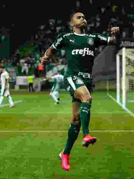 Dudu comemora gol pelo Palmeiras contra o Guarani em seu jogo de número 300 pelo Palmeiras - Daniel Vorley/AGIF