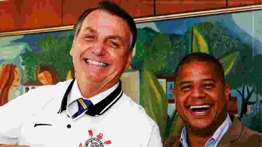 O presidente Jair Bolsonaro (sem partido) e o ex-jogador Marcelinho Carioca - reprodução/Instagram/Marcelinho Carioca