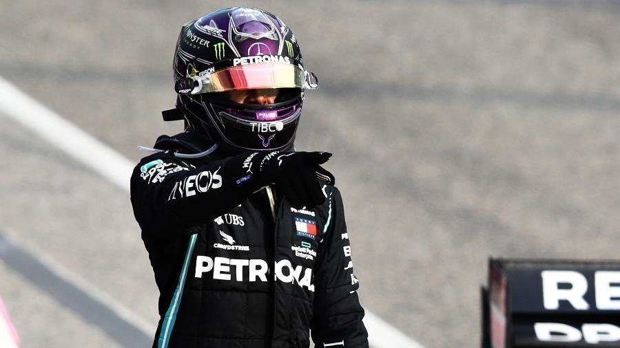 Lewis Hamilton, da Mercedes, comemora vitória no GP na F1: Globo confirma nova conversa para continuidade da categoria - Mark Thompson/Getty Images