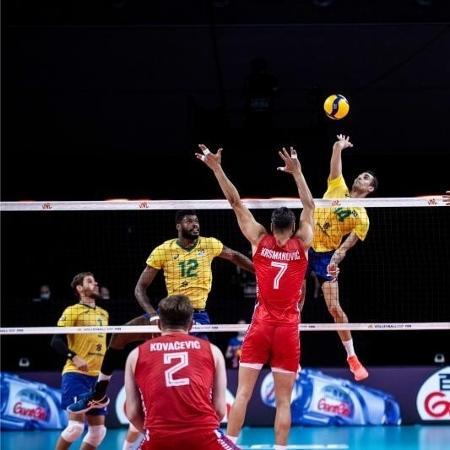 Seleção Brasileira masculina de vôlei vence Sérvia, de virada, na Liga das Nações - Divulgação/FIVB
