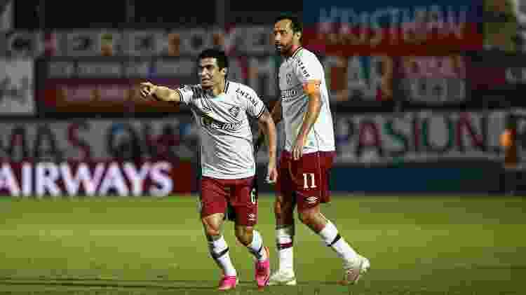 Egídio e Nenê têm contrato até dezembro, mas devem seguir no Fluminense em 2022 - Lucas Merçon/Fluminense FC - Lucas Merçon/Fluminense FC