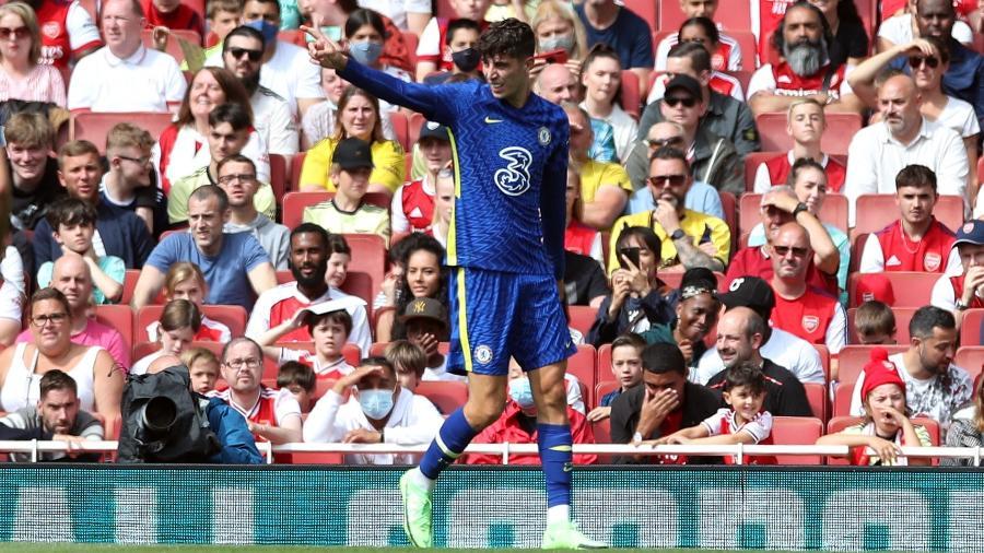 Kai Havertz comemora após marcar para o Chelsea contra o Arsenal em amistoso - Peter Cziborra/Reuters
