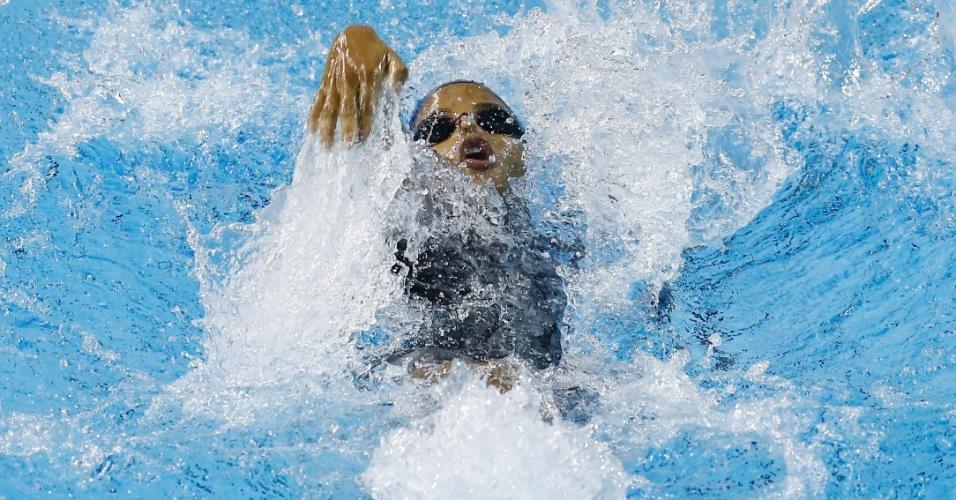 Etiene Medeiros nada a classificatória dos 100 m costas do Pan de Toronto
