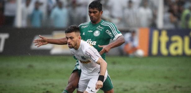 Palmeiras e Santos protagonizaram uma das maiores rivalidades de 2015 - Ricardo Nogueira/Folhapress