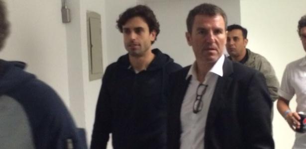 Robert Fernández, diretor do Barcelona, esteve na Vila para assistir o jogo do Santos