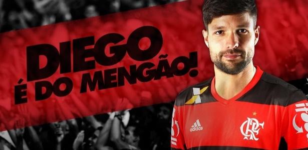 O meia Diego é o novo reforço do Flamengo para o Campeonato Brasileiro - Divulgação/Flamengo