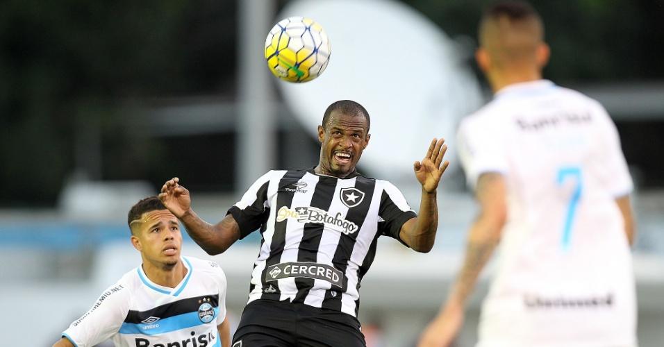 Airton, do Botafogo, em jogo contra Grêmio