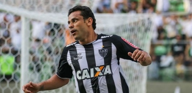 Fred comemora gol marcado pelo Atlético-MG contra o Villa Nova