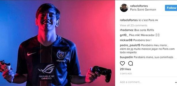 Rafael acertou com o PSG aos 21 anos
