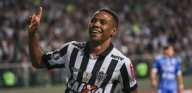 Elias comemora gol marcado pelo Atlético-MG contra o Godoy Cruz