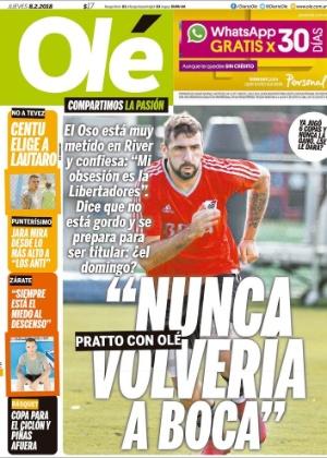 'Joguei alguns minutos em duas partidas e ninguém se lembra de mim', diz atacante, que afirma que só defenderia um ex-clube na Argentina se fosse o Vélez Sarsfield