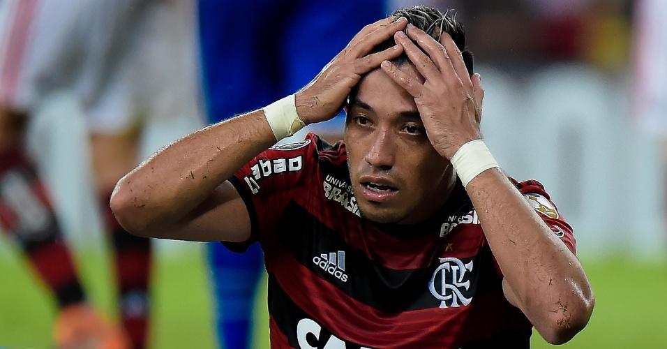 Uribe lamenta chance perdida pelo Flamengo em jogo contra o Cruzeiro
