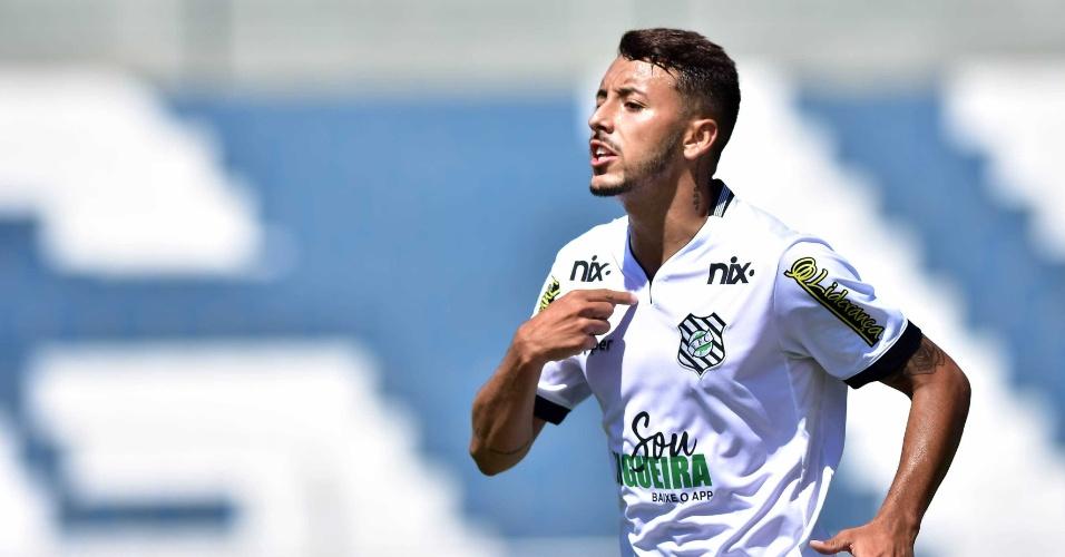 João Diogo comemora gol do Figueirense contra o Flamengo na Copa São Paulo