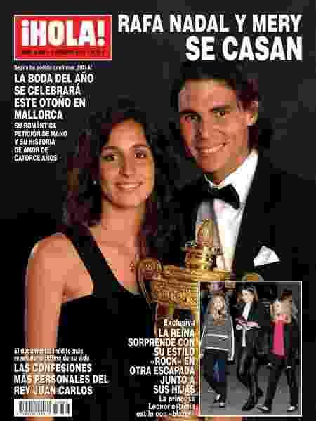 """Capa da revista """"Hola!"""" anunciando casamento de Nadal - Reprodução - Reprodução"""