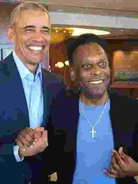 Pelé e Barack Obama - Reprodução/Twitter