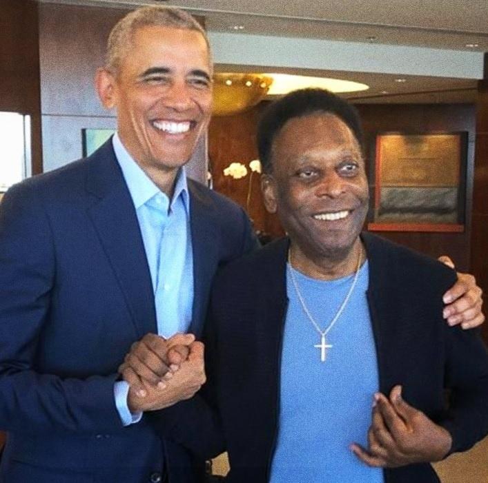 Pelé e Barack Obama