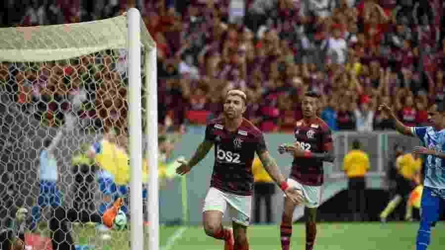 Gabigol comemora gol do Flamengo contra o CSA - Alexandre Vidal/Flamengo