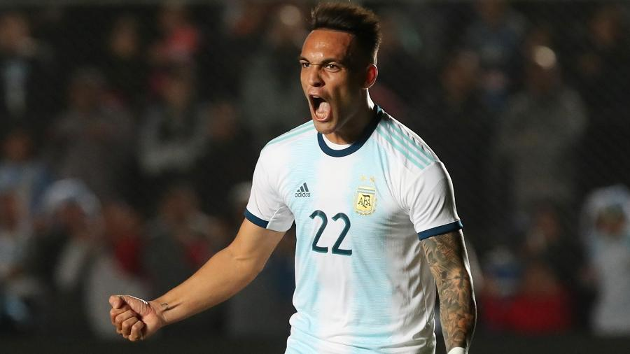 Lautaro Martinez, da seleção da Argentina e da Inter de Milão, é alvo do Barcelona - REUTERS/Agustin Marcarian