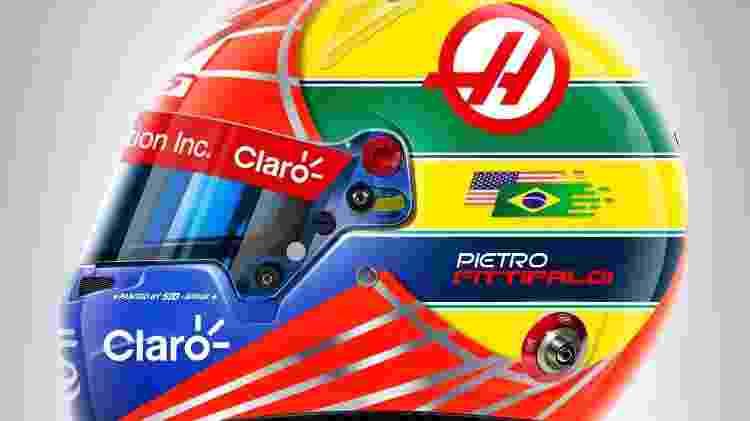 Pietro Fittipaldi usará capacete que mescla suas cores com as de Ayrton Senna - Divulgação