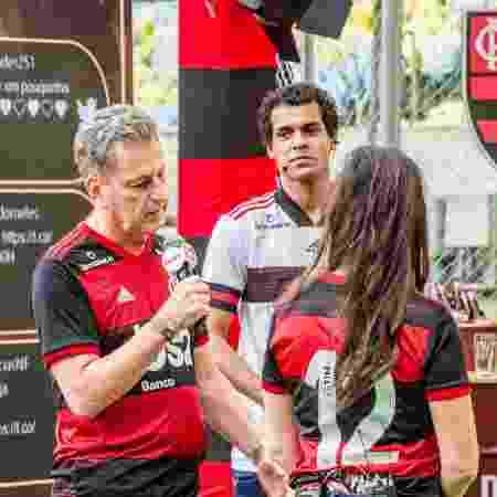 Rodolfo Landim, presidente do Flamengo, em live do clube no Maracanã: sem TV - Marcelo Cortes / Flamengo