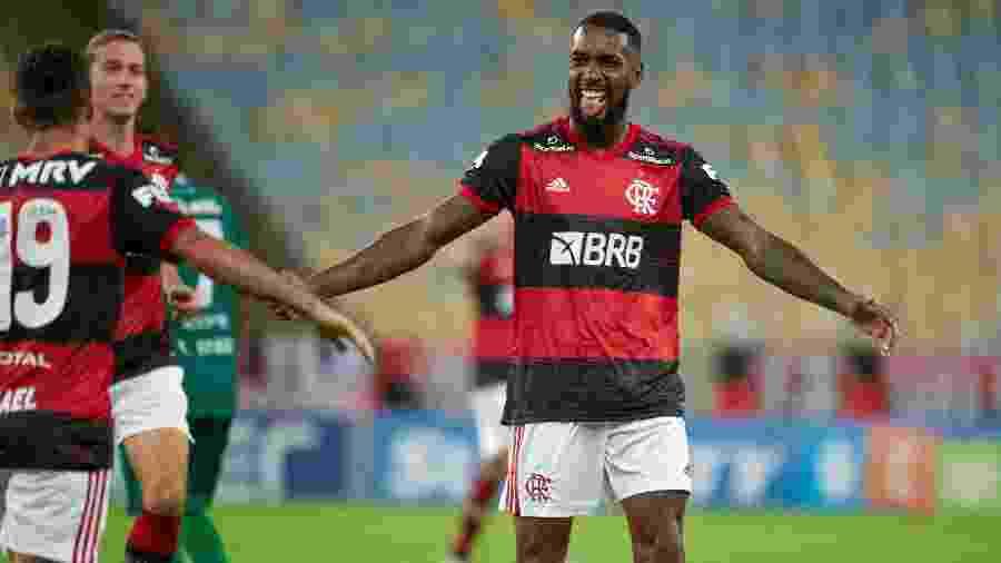 Gerson, do Flamengo, comemora gol contra o Boavista no Campeonato Carioca - Alexandre Vidal/Flamengo