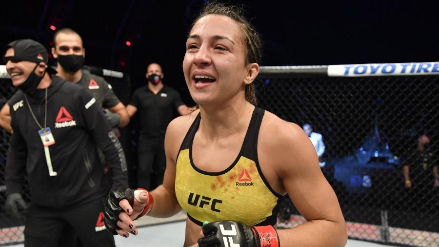 Amanda Ribas dá show e vence Paige no 1º round do UFC 251 - Jeff Bottari/Zuffa LLC via USA TODAY Sports