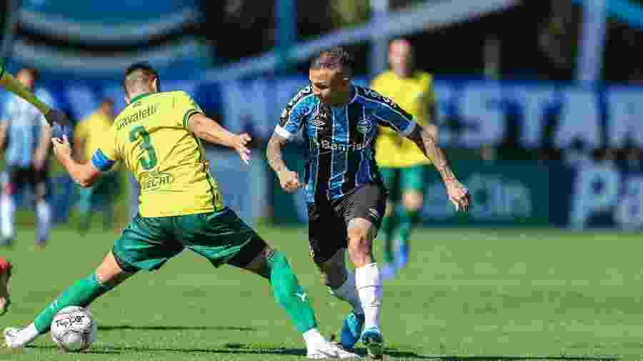 Cebolinha marcou 20 gols pelo Grêmio na temporada passada. Neste ano, são três em 11 jogos - Lucas Uebel/Grêmio FBPA