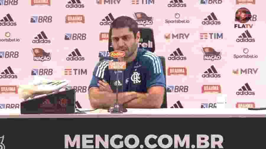 Márcio Tannure, médico do Flamengo - Reprodução FlaTV