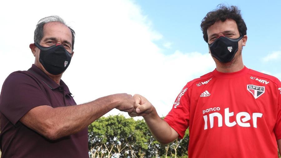 Muricy Ramalho e Fernando Diniz se encontram no São Paulo - Divulgação/São Paulo