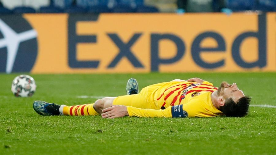 Messi fez um gol, mas não foi o suficiente para o Barça - GONZALO FUENTES/REUTERS