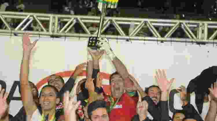 Jogadores do Vasco comemoram o título da Copa do Brasil de 2011 sobre o Coritiba no estádio Couto Pereira - Marcelo Sadio / Vasco - Marcelo Sadio / Vasco