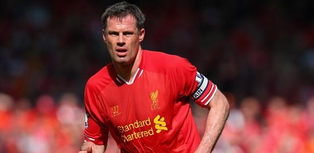 Carragher jogou pelo Liverpool durante toda sua carreira