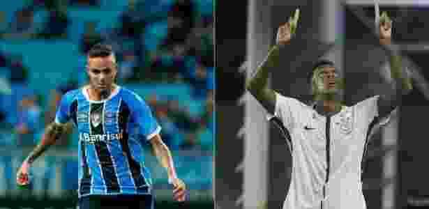 Luan e Jô: estilos diferentes e fundamentais para seus times - Lucas Uebel/Grêmio e Daniel Augusto Jr/Ag. Corinthians