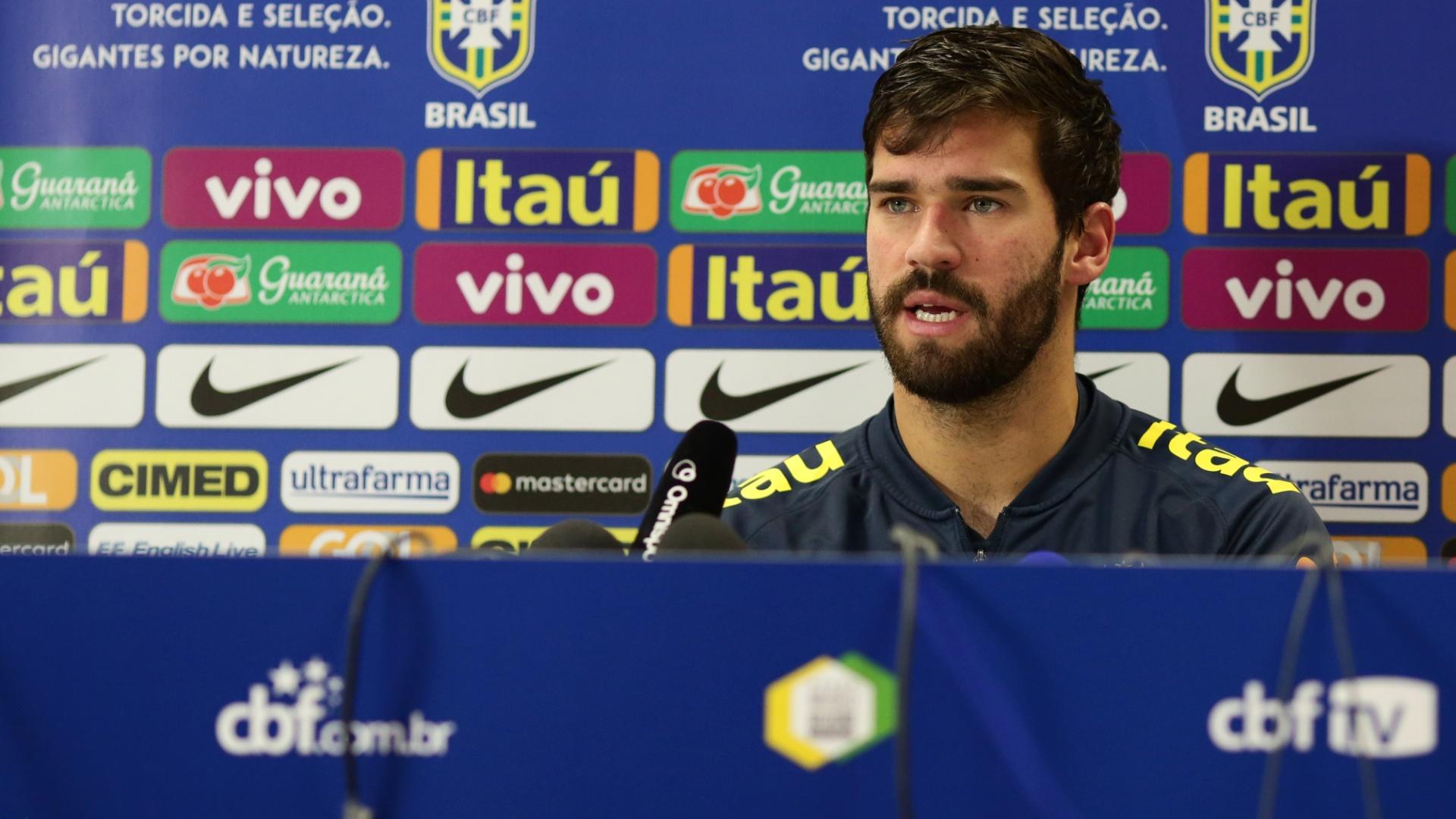 Alisson seleção brasileira coletiva Inglaterra
