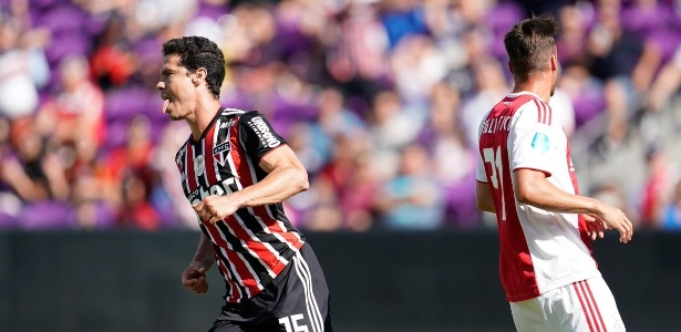 Hernanes marcou seu primeiro gol em mais um retorno ao Tricolor - Divulgação/Florida Cup