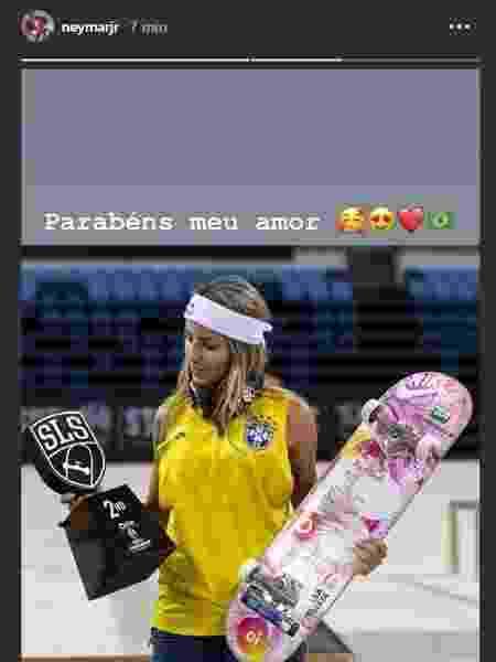 Neymar parabeniza Leticia Bufoni - Reprodução/Instagram - Reprodução/Instagram