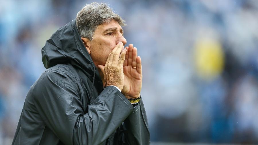 Renato Gaúcho, técnico do Grêmio, durante partida entre Grêmio e Caxias - Lucas Uebel/Grêmio