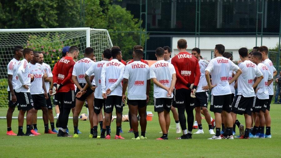 Elenco do São Paulo treina no CT da Barra Funda antes de confronto pelo Paulistão de 2020 - Érico Leonan/saopaulofc.net