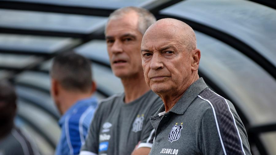 Jesualdo Ferreira junto com o auxiliar no Pacaembu - Bruno Ulivieri/AGIF