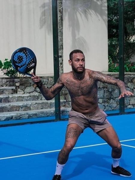 Neymar jogando pádel - Reprodução / Instagram