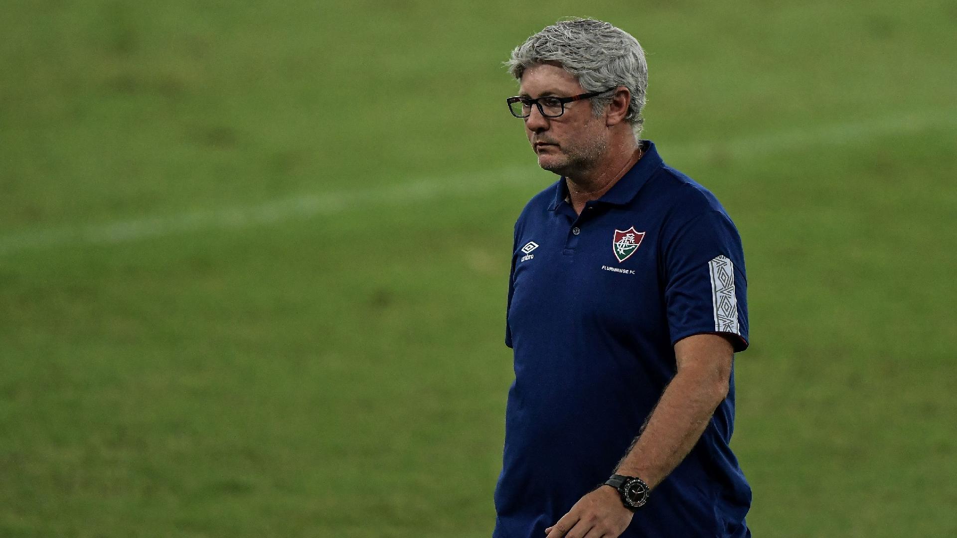 Odair Hellmann técnico, do Fluminense, durante partida contra o Atletico-GO, pelo Campeonato Brasileiro