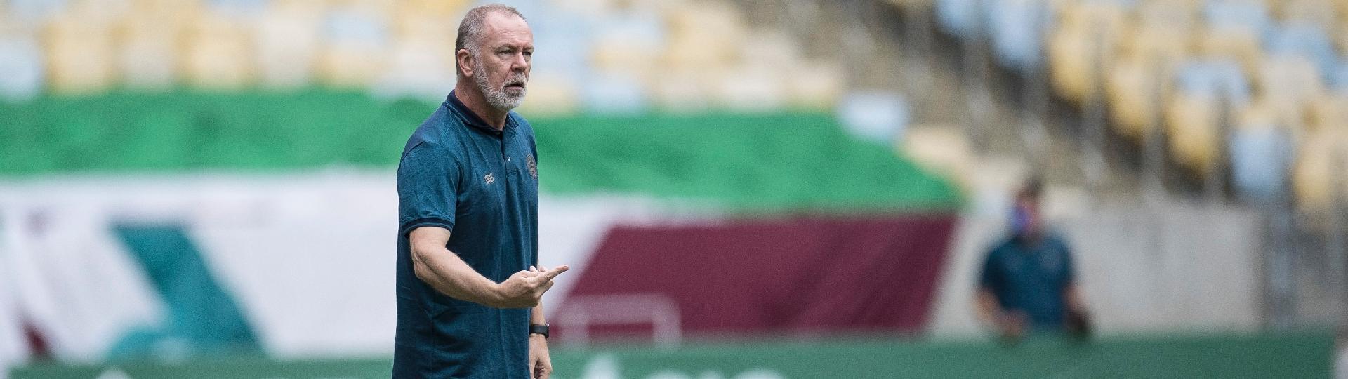Mano Menezes, técnico do Bahia, durante a partida contra o Fluminense
