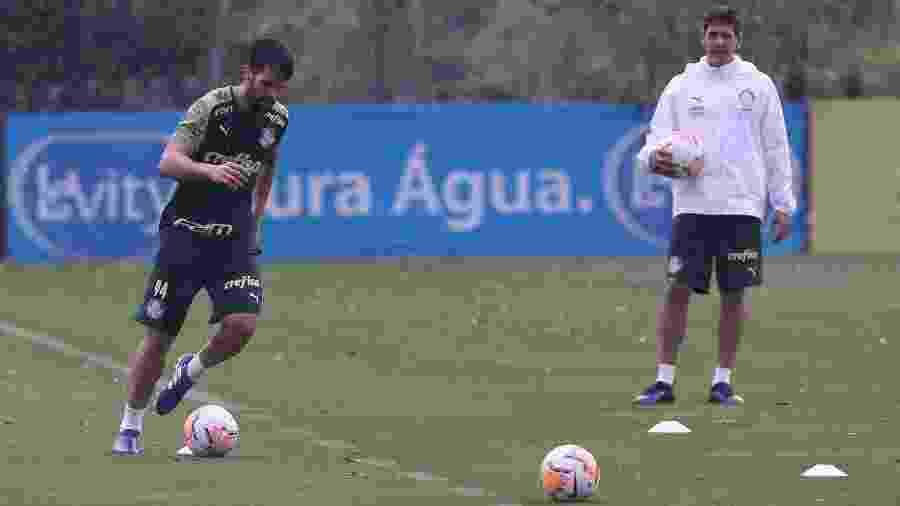 Luan, zagueiro do Palmeiras, em recuperação na Academia de Futebol - Cesar Greco