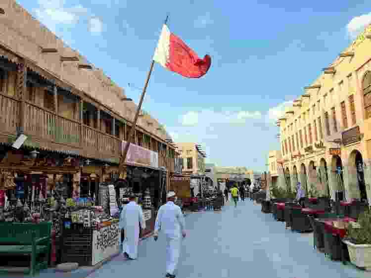 Souq Waqif, tradicional mercado árabe que fica no coração da cidade de Doha - Tiago Leme - Tiago Leme